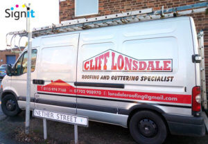van graphics, sign writers nottingham, vinyl van graphics