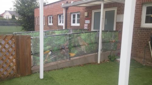 Grange school mesh banners