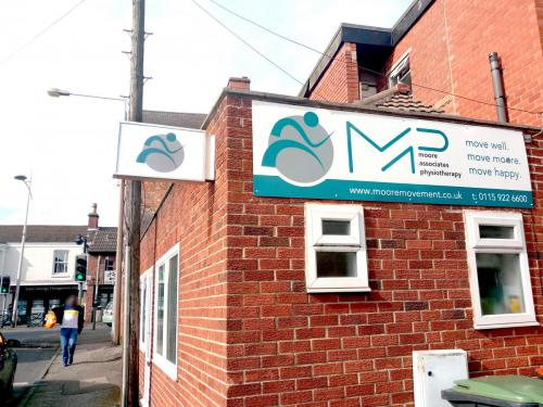 Moore Physio Outdoor Signs